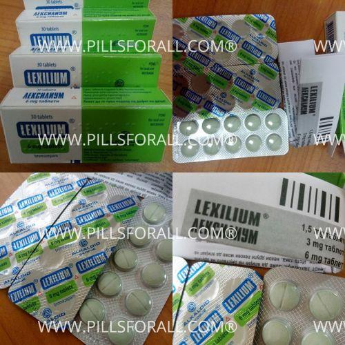 Lexotanil generic bromazepam 6mg Lexilium x 180 tabs . Delivery from EU